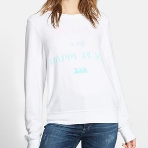 """WILDFOX """"The Beach is my Happy Place"""" Jumper"""